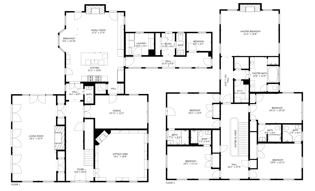 Floor Plan for Crossfields | Extraordinary Gated Keswick estate with private pool, chef's kitchen,  and much more